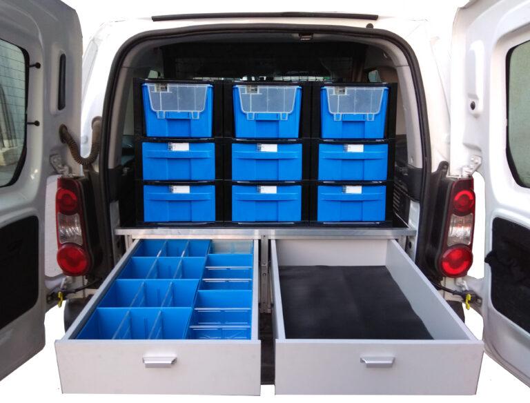 זיווד רכבים מגירות פלסטיק מחוזקות מגירות שליפה מלאה פתרונות זיווד למסחריות